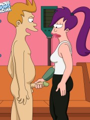 Fry From Futurama Caught Jerking