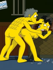 Moe from Simpsons Fucking Sexy Milf